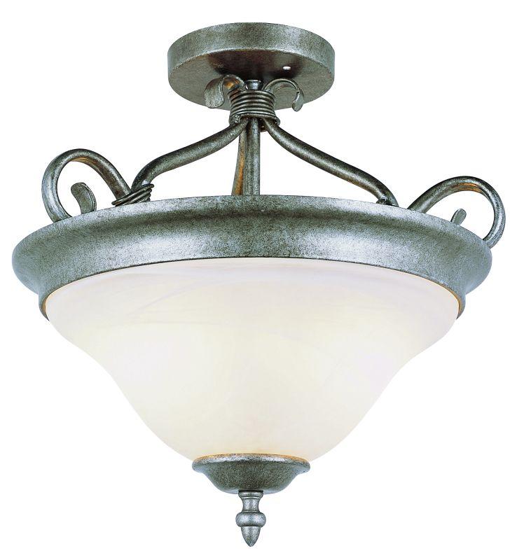 Trans Globe Lighting 6390 Two Light Down Lighting Semi Flush Ceiling