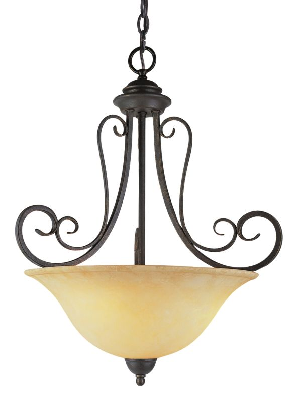 Trans Globe Lighting 6528 Three Light Bowl Pendant from the New