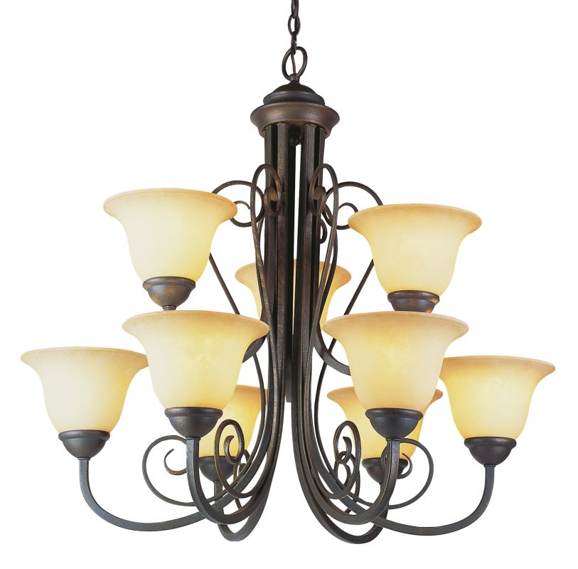 Trans Globe Lighting 6529 Nine Light Up Lighting Two Tier Chandelier Sale $397.10 ITEM: bci722305 ID#:6529 ABZ UPC: 736916218528 :