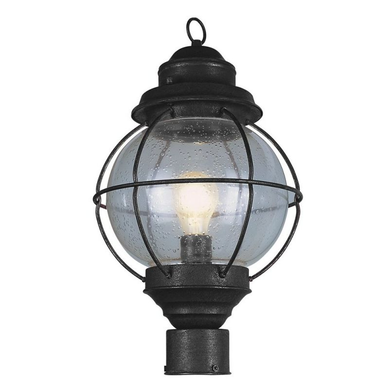 Trans globe lighting 69905 bk black nautical 1 light for Outdoor light post fixtures