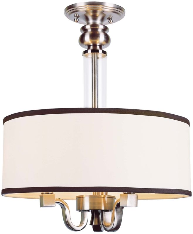 Trans Globe Lighting 7976 Metropolitan 3 Light Semi-Flush Ceiling