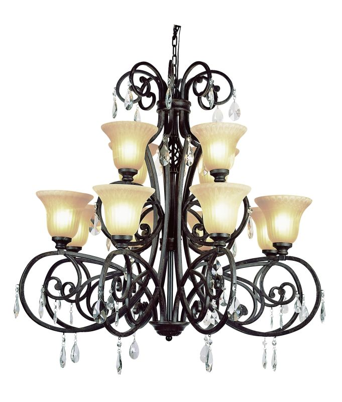Trans Globe Lighting 9932 Twelve Light Two Tier Chandelier from the