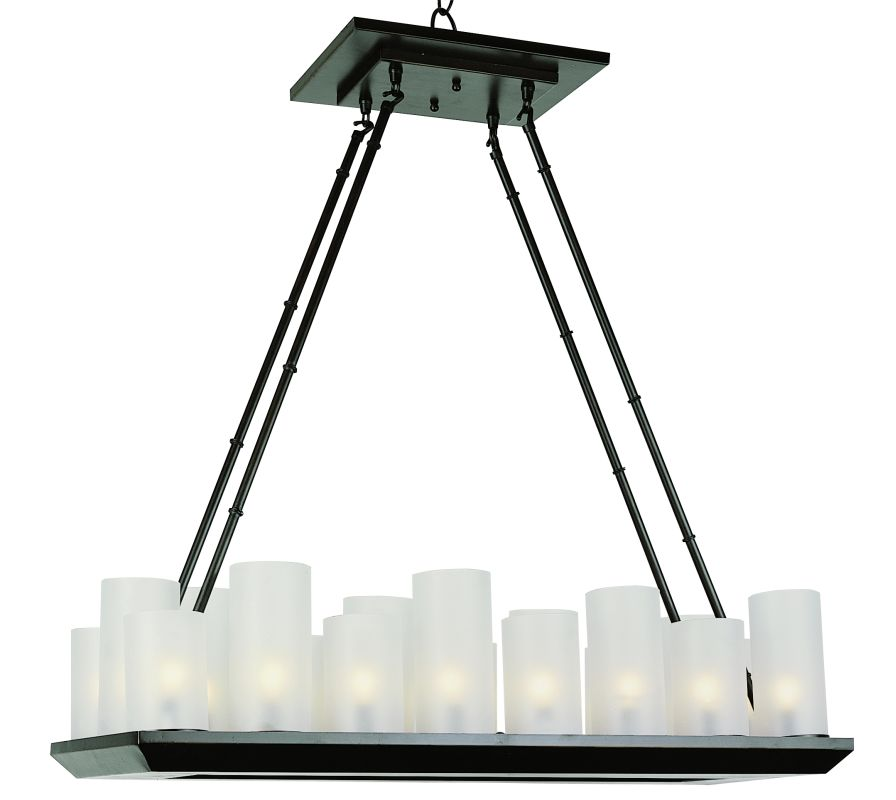 "Trans Globe Lighting 9958 32"" Width 18 Light Linear Pillar Candle"