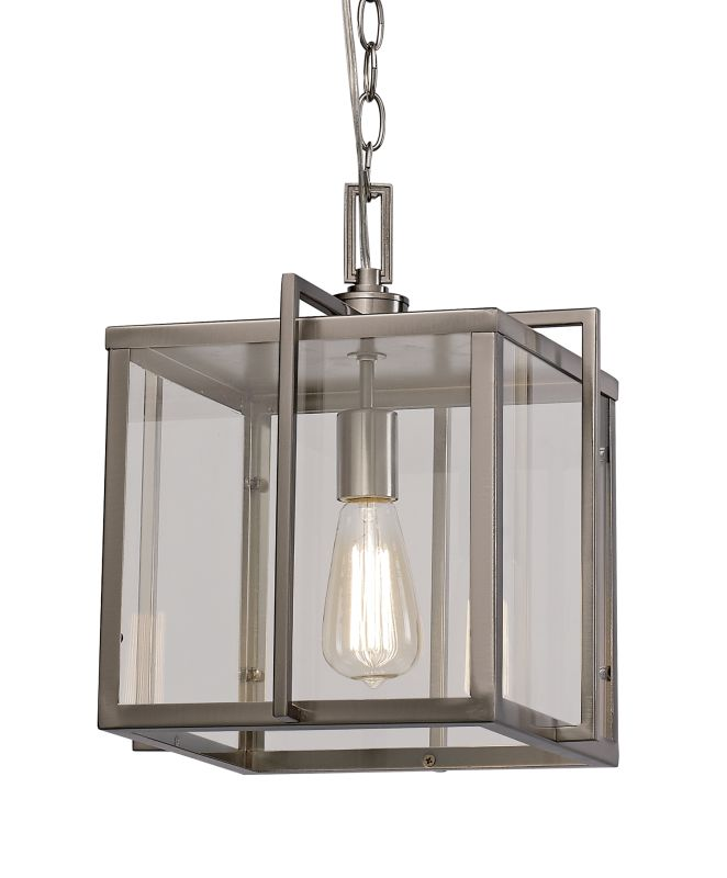 "Trans Globe Lighting 10210 Boxed 10"" 1 Light Mini Pendant Brushed"