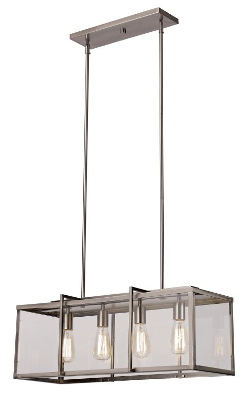 Trans Globe Lighting 10214 Boxed 4 Light Adjustable Linear Chandelier