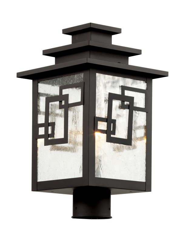 "Trans Globe Lighting 40183 WB 3 Light 16"" Outdoor Post Light with"