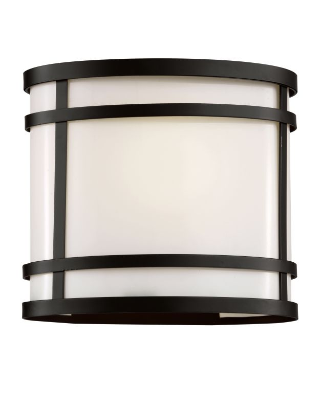 """Trans Globe Lighting 40200 1 Light 7.5"""" Outdoor Wall Sconce with White"""
