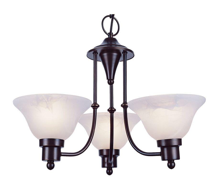 Trans Globe Lighting 6544 Payson 3 Light 1 Tier Mini Chandelier