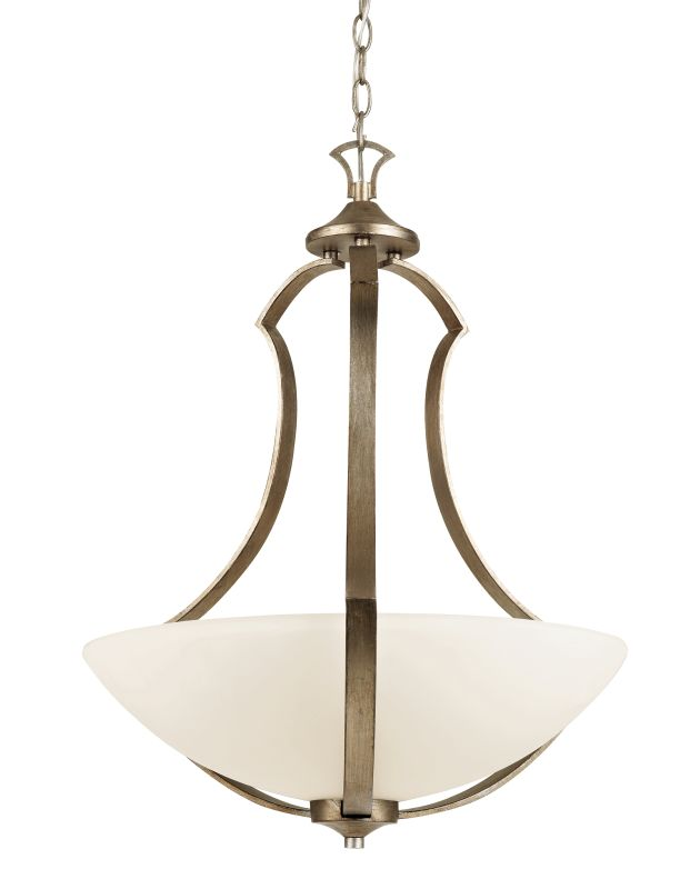 """Trans Globe Lighting 70304 3 Light 22"""" Bowl Pendant with Frosted Shade"""