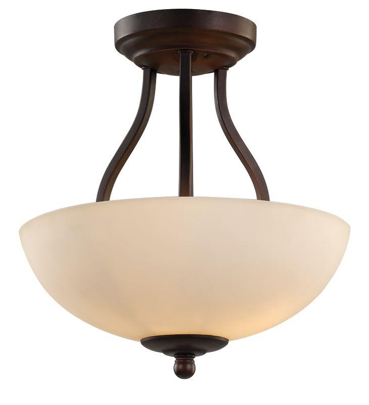 Trans Globe Lighting 70538-1 Clarissa 2 Light Semi-Flush Mount Ceiling