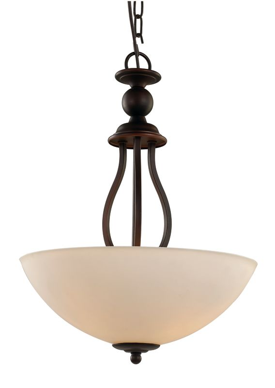 Trans Globe Lighting 70538 Clarissa 3 Light Bowl Shaped Pendant with
