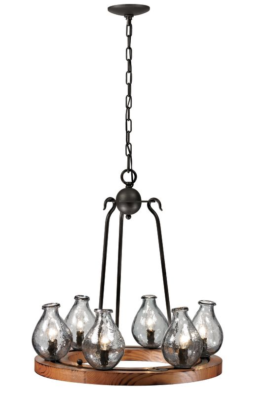 Trans Globe Lighting 70577 Handmade 6 Light Single Tier Chandelier