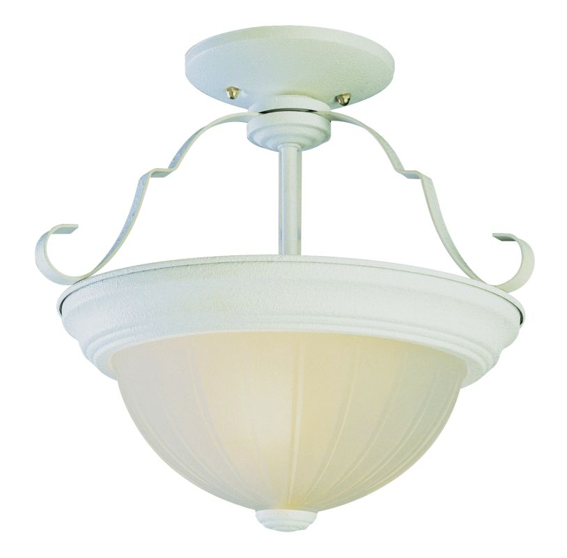 Trans Globe Lighting PL-13215 Melon 3 Light Fluorescent Semi-Flush