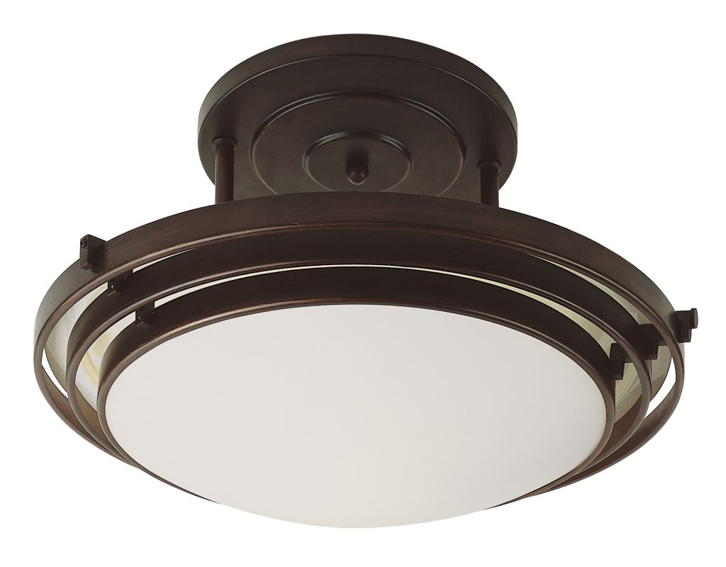 "Trans Globe Lighting PL-2481 20"" Width 3 Light Fluorescent Semi-Flush"