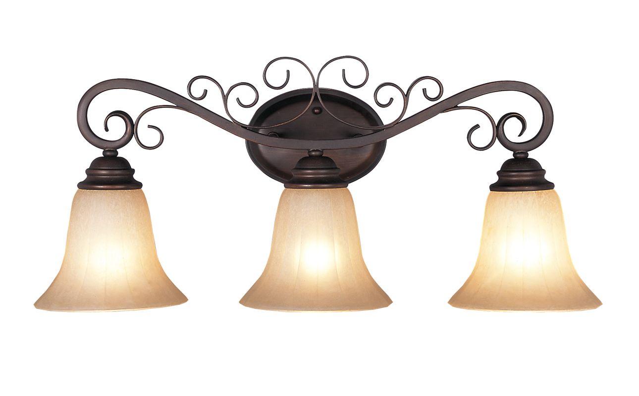 New 3 Light Bathroom Vanity Lighting Fixture Noble Bronze: Trans Globe Lighting 21043 ROB Rubbed Oil Bronze Three