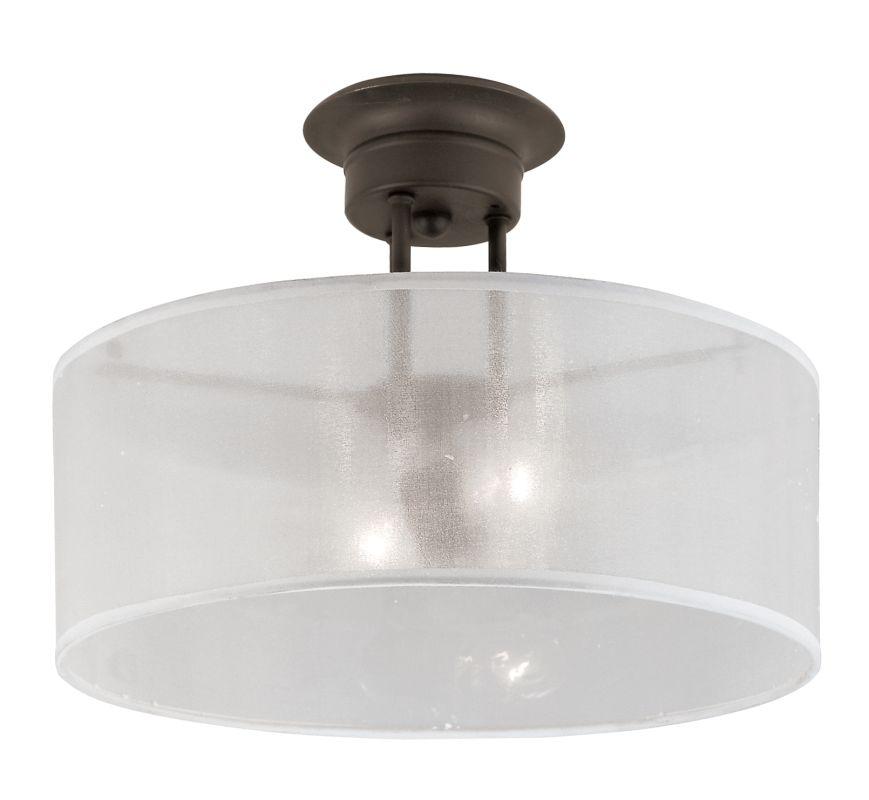 Trans Globe Lighting 3927 2 Light Semi-Flush Ceiling Fixture from the