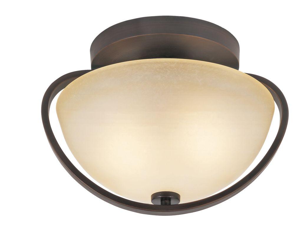 Trans Globe Lighting 70094 2 Light Semi-Flush Ceiling Fixture from the