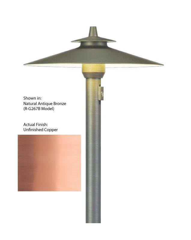 Troy Landscape R-G267C 1 Light Copper Path Light with Adjustable Beam
