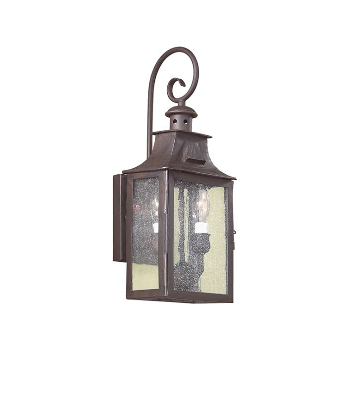 "Troy Lighting BCD9001 Newton 2 Light 18"" Outdoor Wall Sconce with"