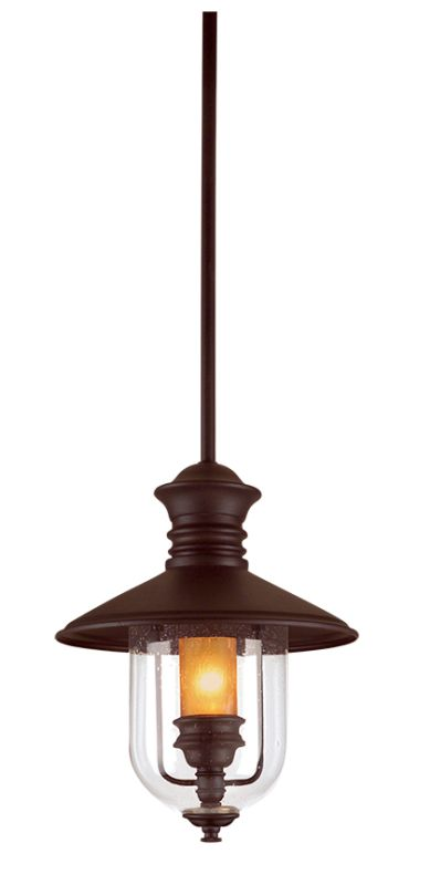 "Troy Lighting F9363 Old Town 1 Light 12"" Outdoor Lantern Pendant with"