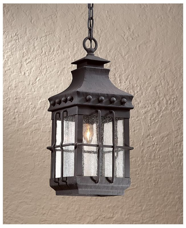 Troy Lighting FCD8973 Dover 1 Light Outdoor Lantern Pendant with Seedy