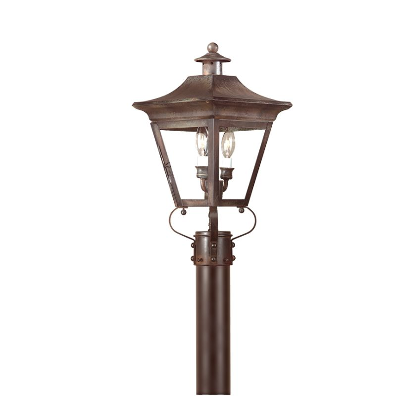 "Troy Lighting P8931 Oxford 2 Light 20"" Post Light with Clear Glass"