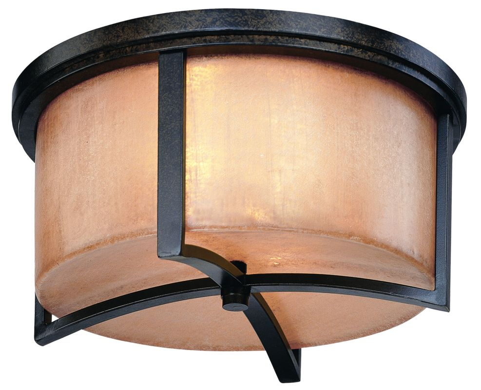 Troy Lighting C1742 Austin 2 Light Flush Mount Ceiling Fixture Antique