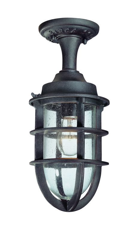 Troy Lighting C1864 Nautical Rust Industrial Wilmington Ceiling Light