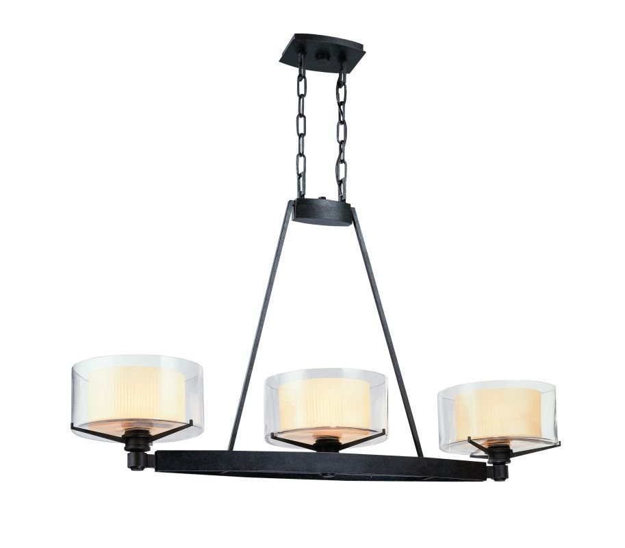 Troy Lighting F1718FR French Iron Contemporary Arcadia Chandelier