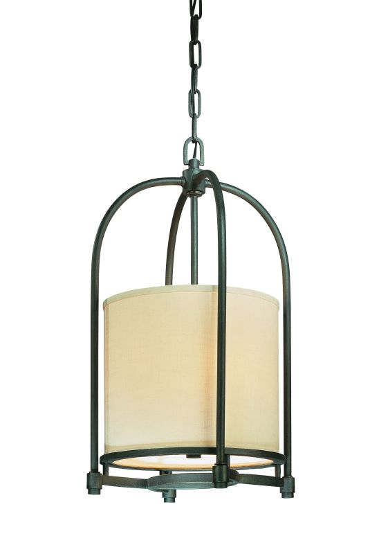 Troy Lighting F1803 Redmond 3 Light Pendant with Fabric Shade Federal