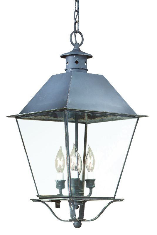 "Troy Lighting F9136 Montgomery 3 Light Outdoor Lantern Pendant Charred Sale $728.00 ITEM: bci1597752 ID#:F9136CI UPC: 782042523746 Product Features: Finish: Charred Iron Seeded Glass , Light Direction: Ambient Lighting , Width: 10.25"" , Height: 20.75"" , Genre: Colonial , Bulb Type: Incandescent , Number of Bulbs: 3 , Fully covered under Troy Lighting warranty , Location Rating: Outdoor Use :"