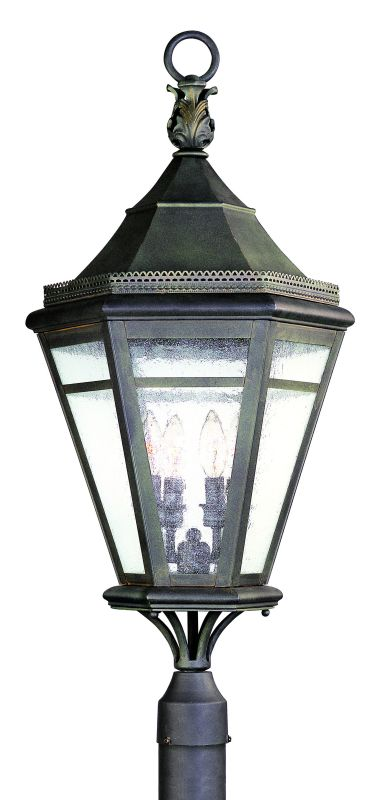 Troy Lighting P1275 Morgan Hill 4 Light Post Light with Seedy Glass