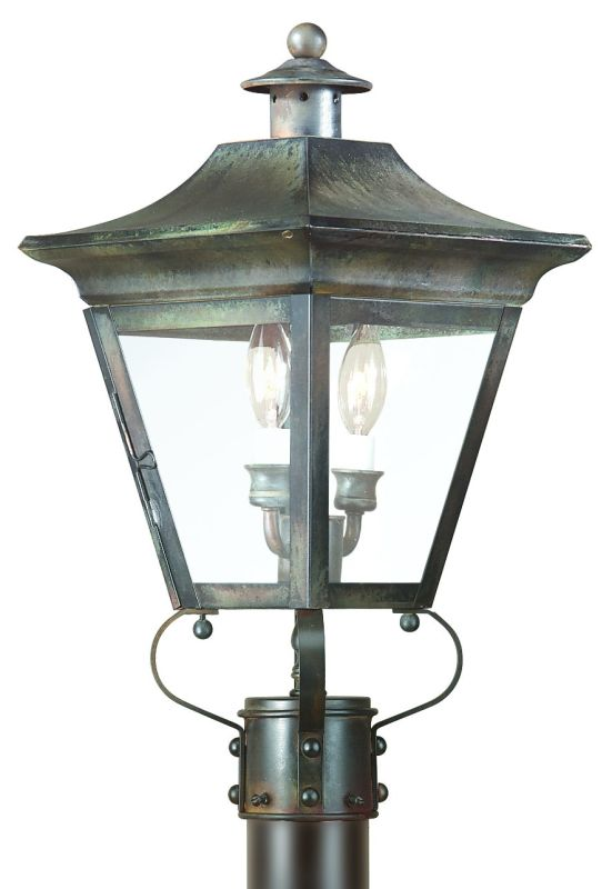 "Troy Lighting PCD8931 Oxford 2 Light 20"" Post Light with Seedy Glass"