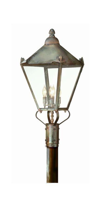 Troy Lighting PCD8947 Preston 4 Light Post Light with Seedy Glass
