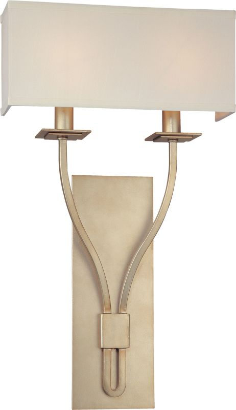 Troy Lighting B2462 Palladium 2 Light ADA Compliant Double Wall Sconce