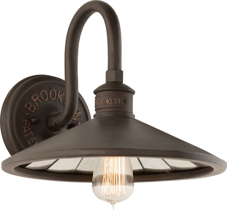 Wall Sconces Edison Bulb : Troy Lighting B3142 Brooklyn Bronze Brooklyn 1 Light Wall Sconce with Vintage Edison Bulb ...