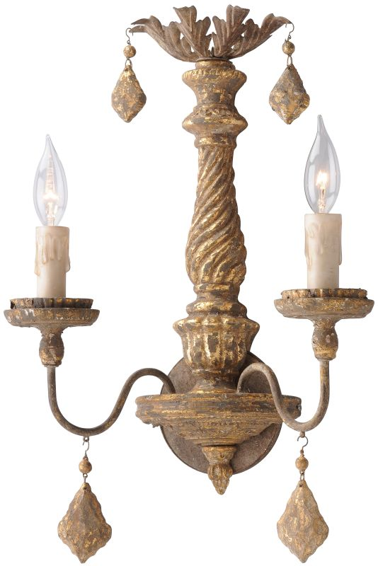 Troy Lighting B3992 Calais 2 Light Wall Sconce with Distressed Sale $126.16 ITEM: bci2433272 ID#:B3992 UPC: 782042844605 :