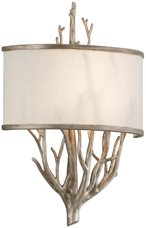 Troy Lighting B4102 Whitman 2 Light Wall Sconce with Fabric Shade