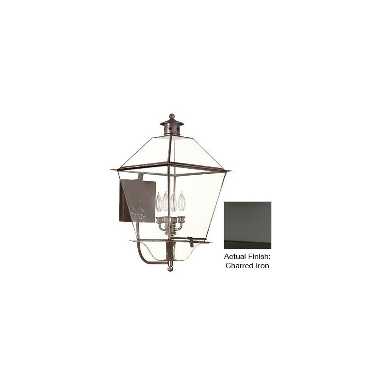 """Troy Lighting B8960 Montgomery 4 Light 26"""" Outdoor Wall Sconce Charred"""