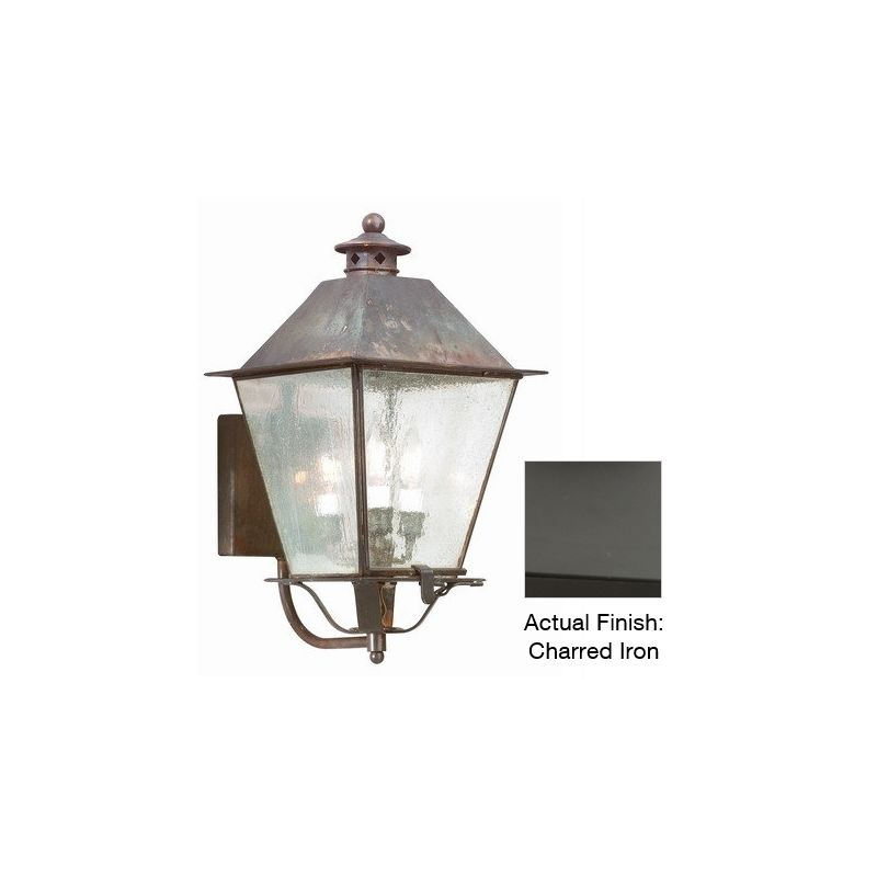 """Troy Lighting B9134 Montgomery 3 Light 20"""" Outdoor Wall Sconce Charred"""