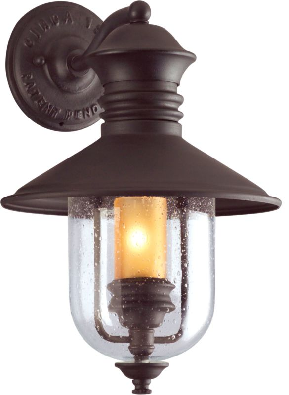 "Troy Lighting B9360 Old Town 1 Light 16"" Outdoor Wall Sconce with"