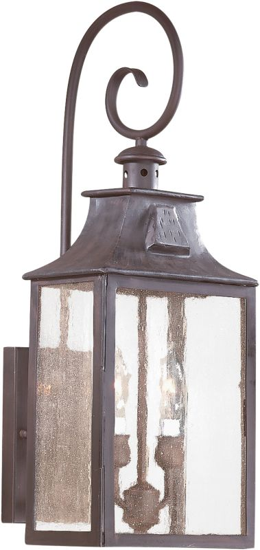 "Troy Lighting BCD9002 Newton 2 Light 23"" Outdoor Wall Sconce with"