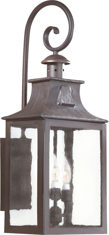 "Troy Lighting BCD9005 Newton 3 Light 27"" Outdoor Wall Sconce with"