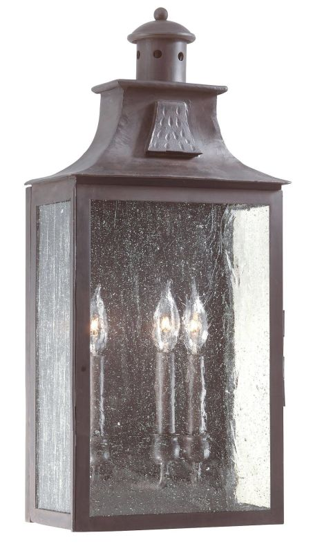 "Troy Lighting BCD9009 Newton 3 Light 24"" Outdoor Wall Sconce with"