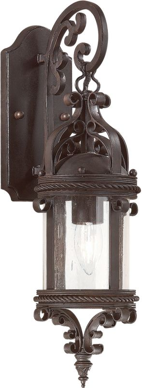 "Troy Lighting BCD9121 Pamplona 1 Light 19"" Outdoor Wall Sconce with"
