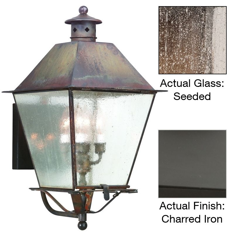 """Troy Lighting B9137 Montgomery 4 Light 24"""" Outdoor Wall Sconce Charred"""