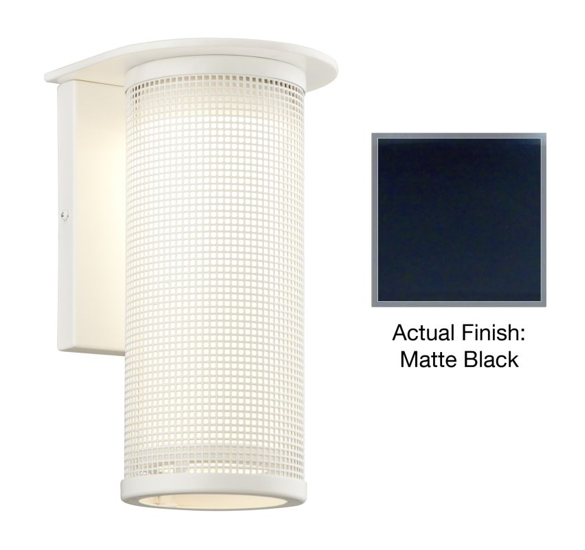 """Troy Lighting BL3742 Hive 1 Light 12"""" LED Outdoor Wall Sconce Matte"""