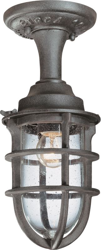 Troy Lighting C1863 Nautical Rust Industrial Wilmington Ceiling Light