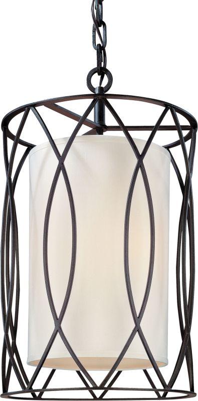 Troy Lighting F1287 Sausalito 3 Light Pendant with Fabric Shade Deep