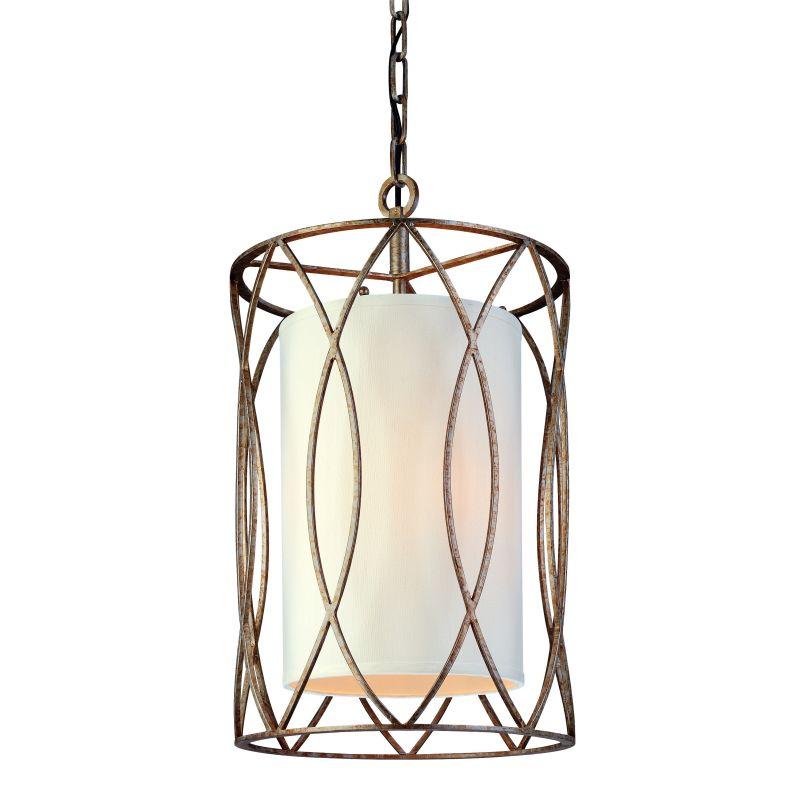 Troy Lighting F1287 Sausalito 3 Light Pendant with Fabric Shade Silver Sale $482.00 ITEM: bci1597974 ID#:F1287SG UPC: 782042668454 :